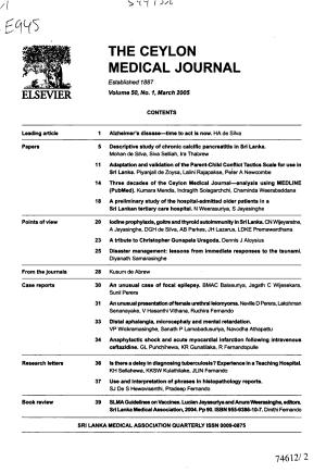 Ceylon Medical Journal