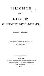 Berichte der Deutschen Chemischen Gesellschaft: Band 15,Teil 2