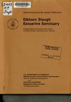 Draft Environmental Impact Statement  Elkhorn Slough Estuarine Sanctuary PDF