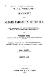 W.J.A. Jonckbloet's Geschichte der niederländischen Literatur: Band 2