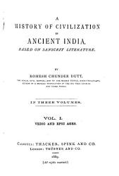 A History of Civilization in Ancient India  Vedic and epic ages PDF