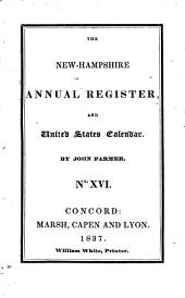 The New-Hampshire Annual Register, and United States Calendar: Issue 16