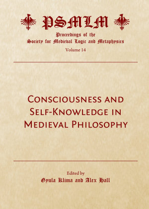 Consciousness and Self Knowledge in Medieval Philosophy