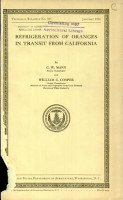 Refrigeration of Oranges in Transit from California PDF