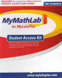 Mymathlab for Mylabsplus Student Access Kit Printed Access Code