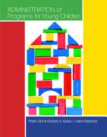 Administration of Programs for Young Children PDF