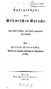 Lehrgebäude der böhmischen Sprache