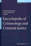 Encyclopedia of Criminology and Criminal Justice Book