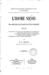 L'idiome niçois: ses origines, son passé, son état present