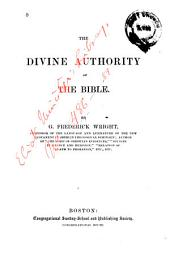 The Divine Authority of the Bible