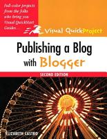Publishing a Blog with Blogger PDF