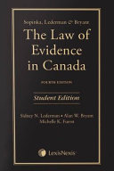 The Law of Evidence in Canada