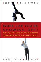 Work Like You re Showing Off  PDF
