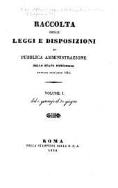 Raccolta delle leggi e disposizioni di pubblica amministrazione nello Stato pontificio