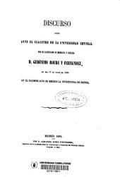 Utilidad de la higiene pública y sus progresos en el presente siglo: discurso leído ante el claustro de la Universidad Central