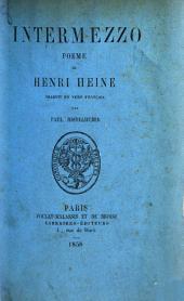 Intermezzo, poème ... traduit en vers français par P. Ristelhuber