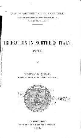 Irrigation in Northern Italy     PDF