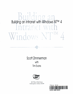 Building an Intranet with Windows NT 4