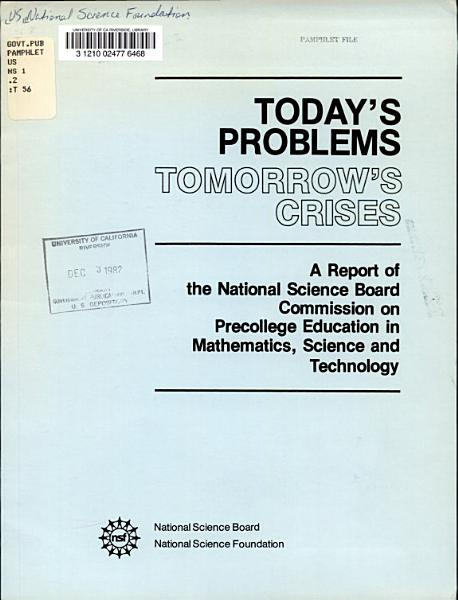 Todays Problems Tomorrows Crises
