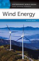 Wind Energy  A Reference Handbook PDF