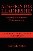 A Passion for Leadership PDF