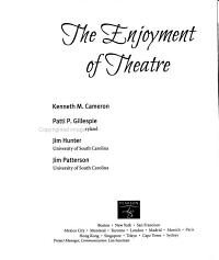 The Enjoyment of Theatre Book