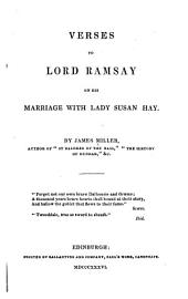 Verses to Lord Ramsay on His Marriage with Lady Susan Hay