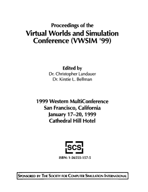 Virtual Worlds and Simulation Conference  VWSIM  99