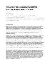 A snapshot of agricultural research investment and capacity in Asia