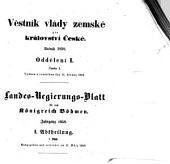 Landes-Gesetz- und Regierungs-Blatt für das Kronland Böhmen: Díl 1