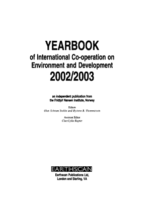 Yearbook of International Cooperation on Environment and Development  2002 2003 PDF