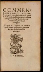 Commentarii Galeacii Capellae de rebus gestis pro Restitutione Francisci Sfortiae II., Mediolani Ducis