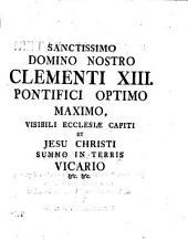 Liber singularis de statu ecclesiae et summi pontificis potestate contra Justinum Febronium: Volume 1