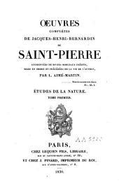 Oeuvres complètes de Jaques-Henri-Bernardin de Saint-Pierre: Volume3