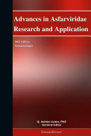 Advances in Asfarviridae Research and Application: 2012 Edition