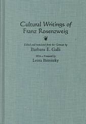 Cultural Writings of Franz Rosenzweig