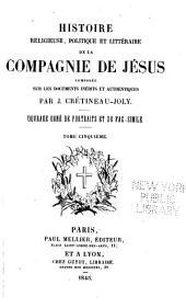 Histoire de la Compagnie de Jesus: Volume5