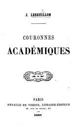 Couronnes académiques. [In verse.]