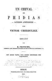 Un cheval de Phidias: causeries athéniennes