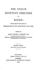 The Egyptian obelisks, to which is added a supplement to the first three parts which form the first vol