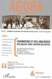 L'animation et ses analogies: Des enjeux pour l'action collective
