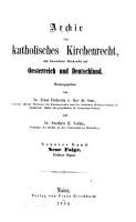 ARCHIV FOR KATHOLISCHES KIRCHENRECHT PDF