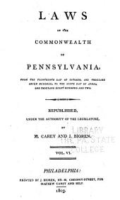 Laws of the Commonwealth of Pennsylvania: Volume 6