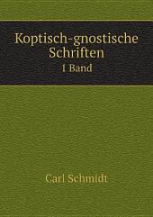 Koptisch-gnostische Schriften: Band 1