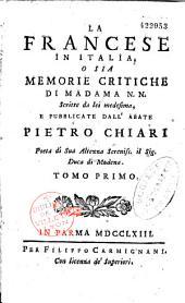 La Francese in Italia, o sia memorie critiche di Madama N.N.