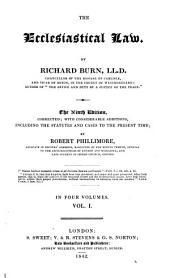 The Ecclesiastical Law: Volume 3