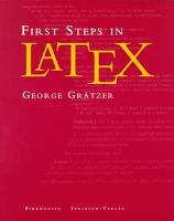 First Steps in LaTeX PDF