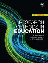 Research Methods in Education: Edition 7