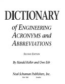 Dictionary of Engineering Acronyms and Abbreviations PDF
