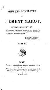 Oeuvres complètes de Clément Marot: Volume3